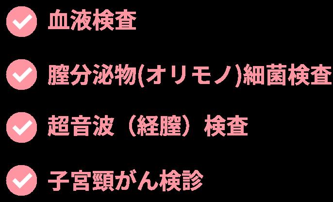 検査内容リスト